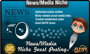 I will write and Blog Post a Media Niche Seo Optimised Article On a Quality News Site
