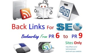 I will maNuALLy Social BoOkMarRK From 20 plus high Pr9 To Pr6 for SEO