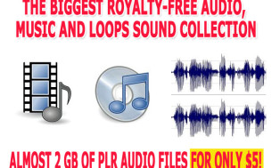 I will give you almost 2 GB of royalty free audio files