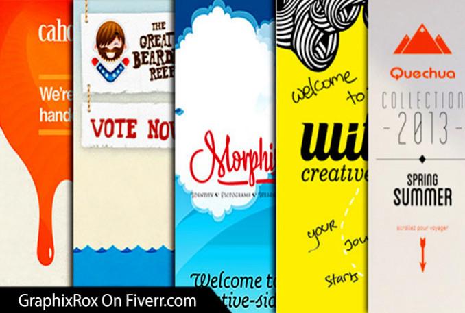i will design professional web banner