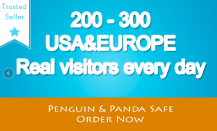 I will drive 200 to 300 usa and europe real visitors daily for one month